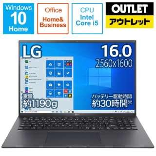 16Z90P-KA55J1 ノートパソコン gram オブシディアンブラック [16.0型 /intel Core i5 /SSD:512GB /メモリ:16GB /2021年2月モデル]