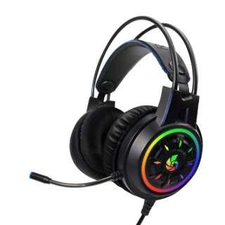 CRC-GMHSRGB01 RACEN バーチャル7.1chサラウンド対応 RGBゲーミングヘッドセット RACEN [USB /両耳 /ヘッドバンドタイプ]