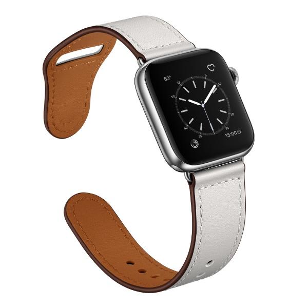 ピュア フィッシング ジャパン ピュア フィッシング ジャパン ピンバックル レザー for Apple Watch 42 44mm ホワイト PGWPBLW6L-WH