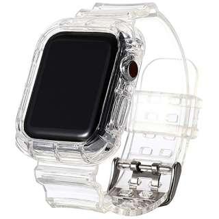 透明シリコンバンド レザルタ for Apple Watch 40mm クリア PHDRSTW6S-CL