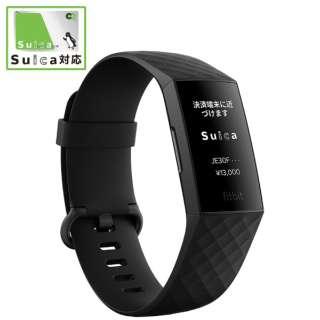【Suica対応】 Fitbit Charge4 GPS搭載フィットネストラッカー Black/Black L/Sサイズ Fitbit ブラック FB417BKBK-JP