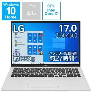 ノートパソコン gram クオーツシルバー 17Z90P-KA79J [17.0型 /intel Core i7 /メモリ:16GB /SSD:1TB /2021年2月モデル]