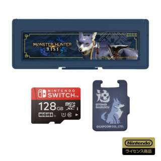 モンスターハンターライズ マイクロSDカード128GB + カードケース6 for Nintendo Switch AD20-001 【Switch】
