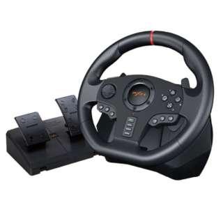 ハイエンドモデル マルチプラットフォーム対応 ドライビングシミュレーションステアリングコントローラー PXN PXN-V900 [USB /Windows /12ボタン]