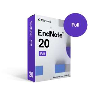 EndNote 20 新規ライセンス パッケージ版 [Win・Mac用]