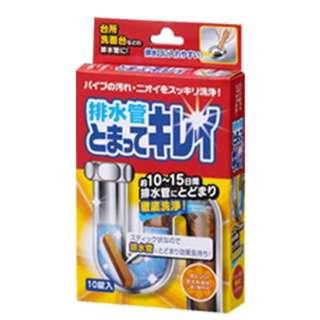 排水管洗浄剤 排水管とまってキレイ 6g×10錠 1061420