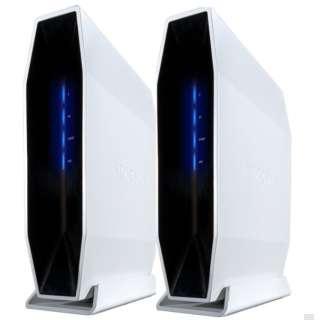 Wi-Fiルーター 2個パック E9450(4802 + 800 Mbps) ホワイト E9452-JP