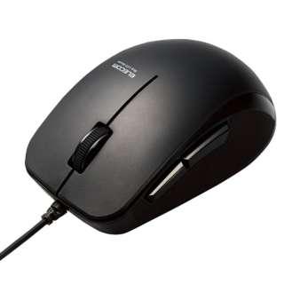 マウス 有線 抗菌 静音 ブルーLED 5ボタン Mサイズ ケーブル長1m 進む戻るボタン Windows11対応 ブラック M-BL28UBSKBK [光学式 /有線 /5ボタン /USB]