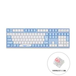 ゲーミングキーボード Sea Melody さくら軸 vm-ma113-wbpe7hj-sakura [USB /有線]