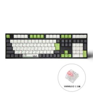 ゲーミングキーボード+マウスパッド Panda サクラ軸 vm-ma113-llpandj-sakura [USB /有線]