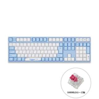 ゲーミングキーボード Sea Melody ローズ軸 vm-ma113-wbpe7hj-rose [USB /有線]