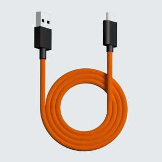 1.8m[USB-C ⇔ USB-A]ケーブル ウルトラカスタム Ergo用 オレンジ pw-usb-type-c-paracord-cable-orange