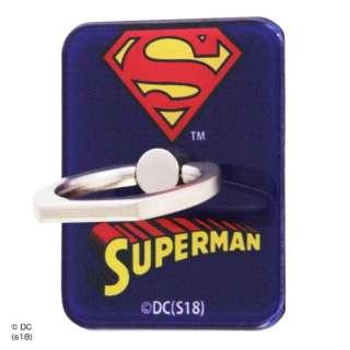 スーパーマン/スマートフォン用リング アクリル/スーパーマン/ロゴ イングレム IJ-WABKR/SM001
