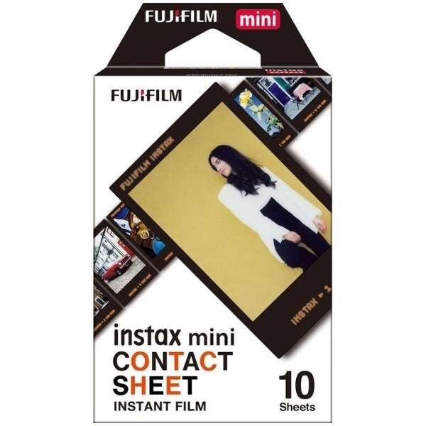 チェキ インスタントフィルム instax mini用フィルム「CONTACT SHEET」 1パック(10枚入) コンタクトシート [10枚 /1パック]