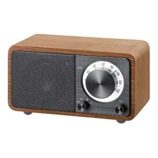 FMラジオ対応 ブルートゥーススピーカー チェリー + ダークグレー WR-301 [Bluetooth対応]