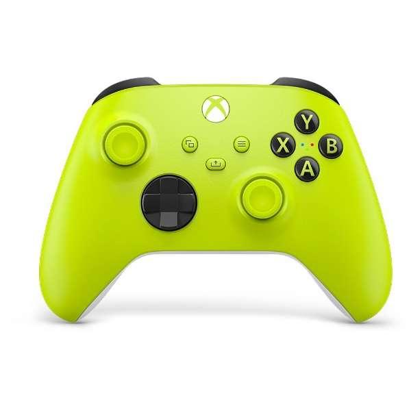 【純正】Xbox ワイヤレス コントローラー (エレクトリック ボルト) QAU-00025 【Xbox Series X S/Xbox One/PC/Android】