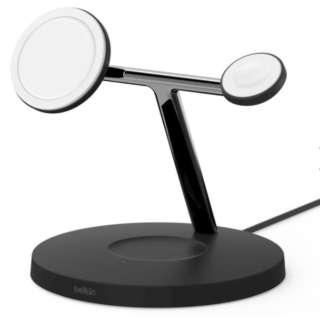 MagSafe急速充電対応 iPhoneapple watch AirPods 同時充電可能 3in1 ワイヤレス充電器 WIZ009dqBK ブラック ブラック WIZ009DQBK