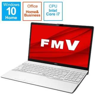 FMVA500FW1 ノートパソコン LIFEBOOK AH50/F プレミアムホワイト [15.6型 /intel Core i7 /SSD:256GB /メモリ:8GB /2021年春モデル]
