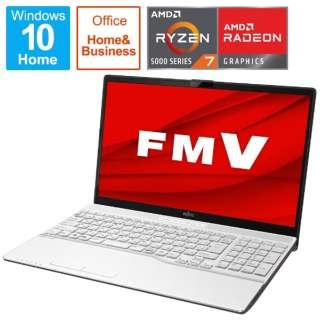 FMVA76F1WB ノートパソコン LIFEBOOK AH76/F1 プレミアムホワイト [15.6型 /AMD Ryzen 7 /SSD:512GB /メモリ:8GB /2021年春モデル]