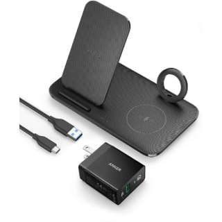 Anker PowerWave+ 3-in-1 Stand with Watch Holder black B2579111 [ワイヤレスのみ]