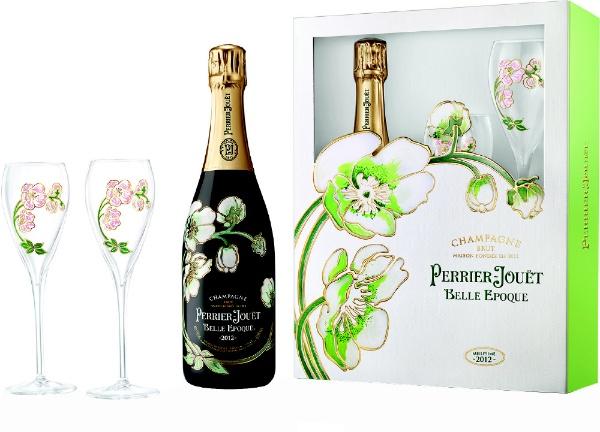 ペリエ ジュエ キュヴェ ベル エポック 2012 グラス2脚セットギフト箱入り 750ml【シャンパン】