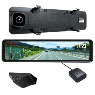 ドライブレコーダー NEXTEC NX-DRM22E [ミラー型 /Full HD(200万画素) /前後カメラ対応]