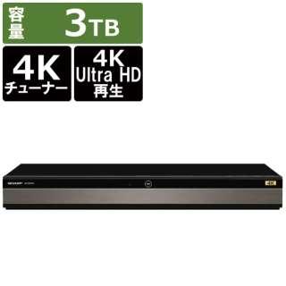 ブルーレイレコーダー AQUOSブルーレイ 4B-C30DT3 [3TB /3番組同時録画 /BS・CS 4Kチューナー内蔵]
