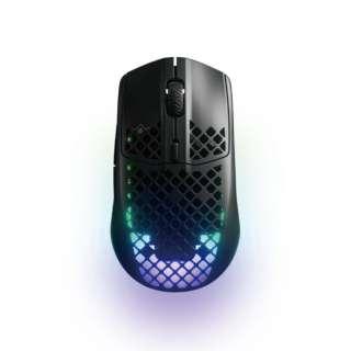 ゲーミングマウス Aerox 3 Wireless ブラック 62604 [光学式 /有線/無線(ワイヤレス) /6ボタン /Bluetooth・USB]