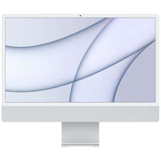 iMac 24インチ  Retina 4.5Kディスプレイモデル[2021年/ SSD 512GB / メモリ 8GB / 8コアCPU / 8コアGPU / Apple M1チップ / シルバー]MGPD3J/A