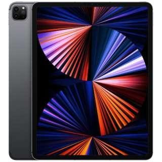 【SIMフリー】iPad Pro 12.9インチ(第5世代) Wi-Fi+Cellular 128GB MHR43J/A スペースグレイ【2021年モデル】