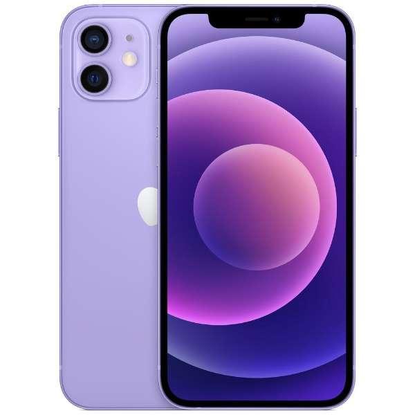 【SIMフリー】iPhone 12 A14 Bionic 6.1型ストレージ:128GBデュアルSIM(nano-SIMとeSIM)  MJNJ3J/Aパープル