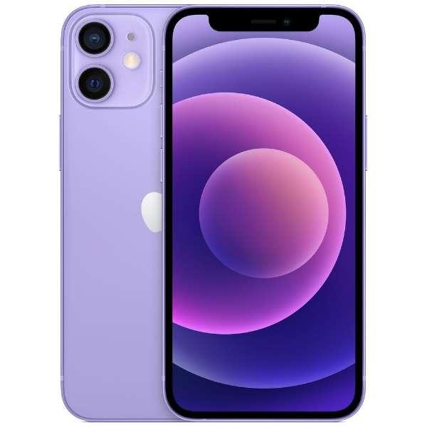 【SIMフリー】iPhone 12 mini A14 Bionic 5.4型ストレージ:64GB  デュアルSIM(nano-SIMとeSIM)MJQC3J/Aパープル