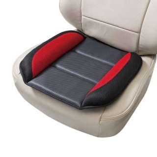 低反発クッション CRメッシュ低反発 軽/普通車 ヒップ型 ストッパー付 低反発ウレタン 45x45cm レッド 5749-43RE