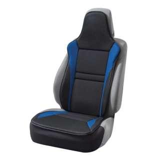 シートカバー レーシングメッシュ 軽/普通車 前席フリーサイズ 抗菌防臭加工 取付簡単 サイドエアバッグ対応 フロント1枚 ブルー 4077-91BL