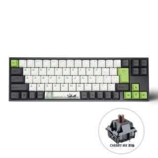ゲーミングキーボード+マウスパッド Panda 茶軸 vm-va73-wlpandj-brown [USB /有線]