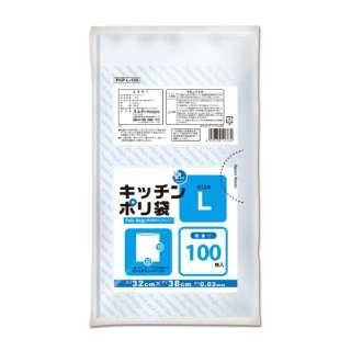 プラスプラスキッチンポリ袋LD-L増量 透明 100P