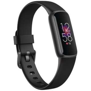 Fitbit Luxe フィットネストラッカー ブラック/グラファイト L/Sサイズ Fitbit ブラック FB422BKBK-FRCJK