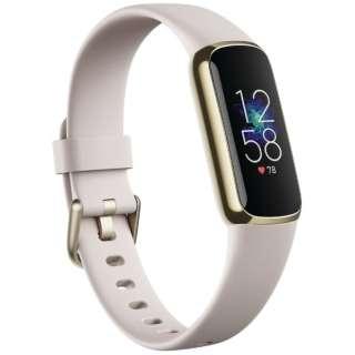 Fitbit Luxe フィットネストラッカー ルナホワイト/ソフトゴールド L/Sサイズ Fitbit ルナホワイト FB422GLWT-FRCJK