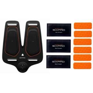 MTG EMSトレーニングギア SIXPAD Leg Belt シックスパッド レッグベルト SP-LG2210F + レッグベルト 高電導ジェルシート SP-LG2217G-B ×3枚 セット
