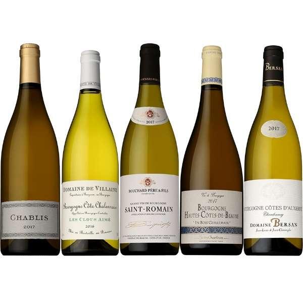 実力派メゾン&ドメーヌの当たり年 2017 ブルゴーニュ辛口白ワインのみセット 750ml 5本【ワインセット】