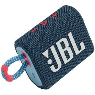 ブルートゥース スピーカー ブルーピンク JBLGO3BLUP [防水 /Bluetooth対応]