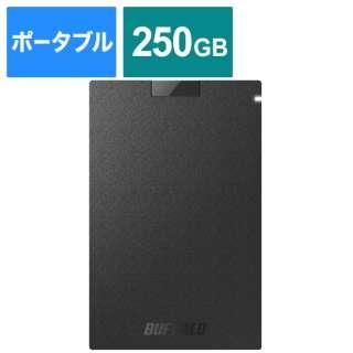 SSD-PG250U3-BC 外付けSSD USB-A接続 ブラック [250GB /ポータブル型]