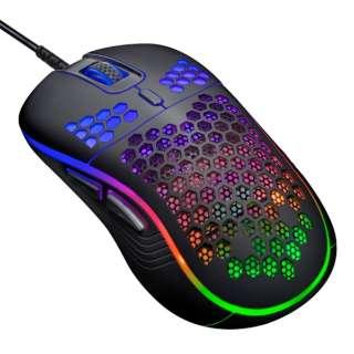 CRC-GMRGB02BK ゲーミングマウス RACEN RGB LT ブラック [IR LED /6ボタン /USB /有線]