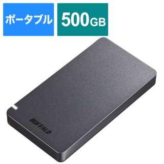 SSD-PGM500U3-BC 外付けSSD USB-C+USB-A接続 (PS対応) ブラック [500GB /ポータブル型]