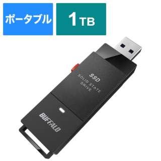 SSD-PUT1.0U3-BKC 外付けSSD USB-A接続 (PC・TV両対応、PS5対応) ブラック [1TB /ポータブル型]