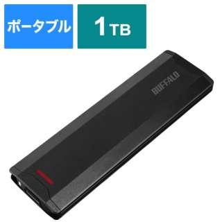 SSD-PH1.0U3-BC 外付けSSD USB-C+USB-A接続 (PS対応) ブラック [1TB /ポータブル型]