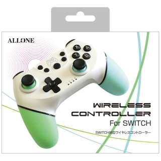 Switch用ワイヤレスコントローラー WH グリーン&ブルー ALG-NSWCWG 【Switch】