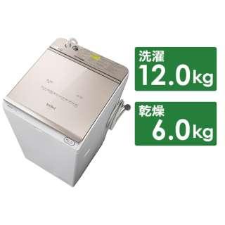 縦型洗濯乾燥機 ビートウォッシュ シャンパン BW-DX120G-N [洗濯12.0kg /乾燥6.0kg /ヒーター乾燥(水冷・除湿タイプ) /上開き]