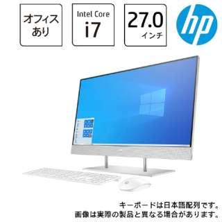デスクトップパソコン HP 27-dp0000 AiO 1V7J1AA-AAAB [27型 /intel Core i7 /メモリ:16GB /HDD:2TB /SSD:512GB /2021年5月モデル]