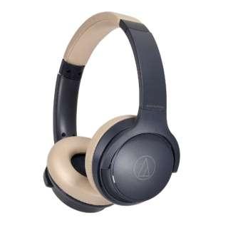 ブルートゥースヘッドホン ネイビーベージュ ATH-S220BT NBG [リモコン・マイク対応 /Bluetooth]